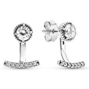 🔥Pandora🔥 Sparkling Anchor Jacket Stud Earrings